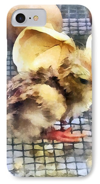 Farm Animals - Just Hatched Phone Case by Susan Savad