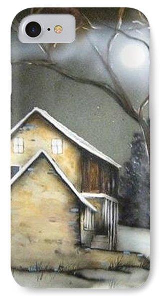 Farm At Night Phone Case by Kendra Sorum