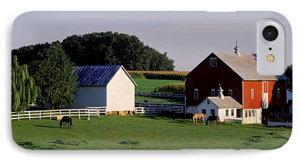 Farm, Baltimore County, Maryland, Usa IPhone Case by Panoramic Images