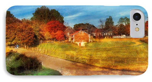 Farm - Barn -  A Walk In The Country Phone Case by Mike Savad