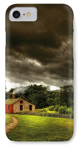 Farm - Barn - Storms A Comin Phone Case by Mike Savad