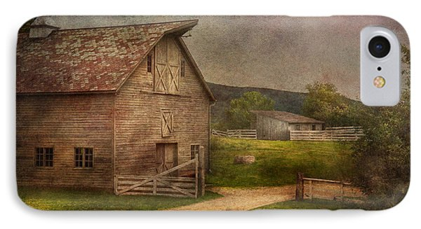 Farm - Barn - The Old Gray Barn  Phone Case by Mike Savad