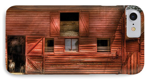 Farm - Barn - Visiting The Farm IPhone Case by Mike Savad