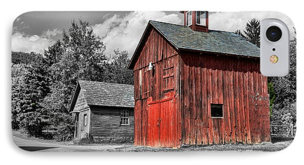 Farm - Barn - Weathered Red Barn Phone Case by Paul Ward