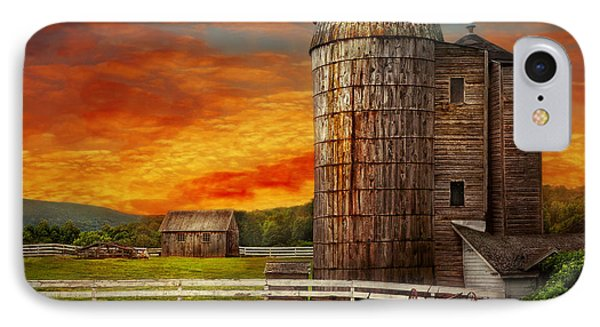 Farm - Barn - Welcome To The Farm  Phone Case by Mike Savad
