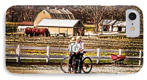 Farm Boys Country Exchange Phone Case by Randall Branham