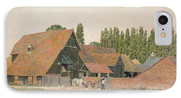 Farm Buildings, Dorchester, Oxfordshire IPhone Case by George Price Boyce