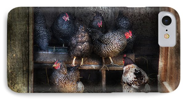 Farm - Chicken - The Hen House Phone Case by Mike Savad
