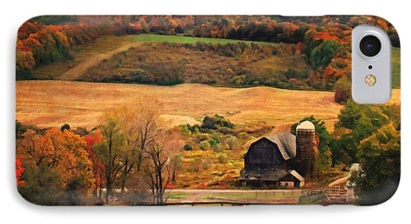 Farm Country Autumn - Sheldon Ny IPhone Case