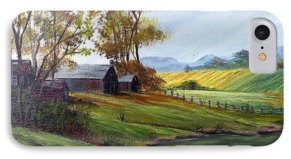 IPhone Case featuring the painting Farm by Dorothy Maier
