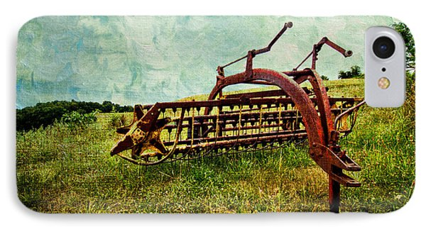 Farm Equipment In A Field Phone Case by Amy Cicconi