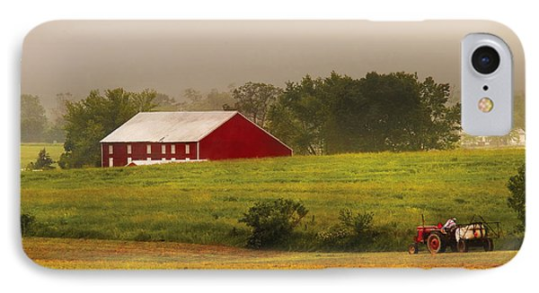 Farm - Farmer - Tilling The Fields IPhone Case by Mike Savad