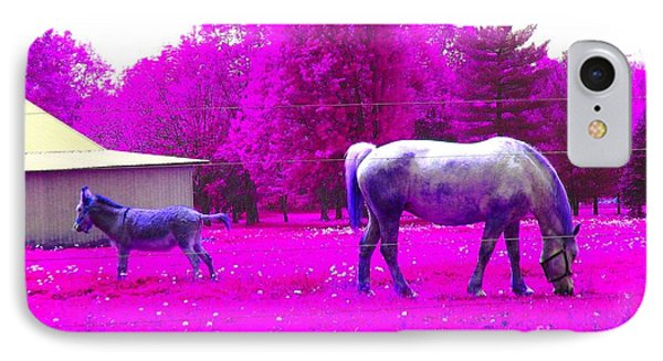 IPhone Case featuring the photograph Farm Friends - Animals by Susan Carella