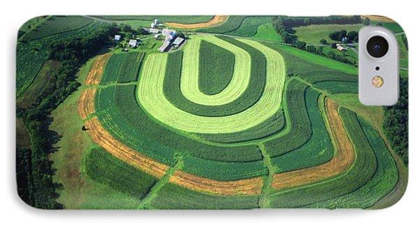 Farm Greens And Hillside Contour Plowing Phone Case by Blair Seitz