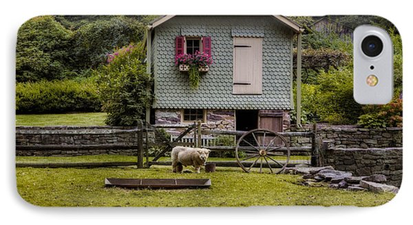 Farm House And Babydoll Sheep IPhone Case by Susan Candelario