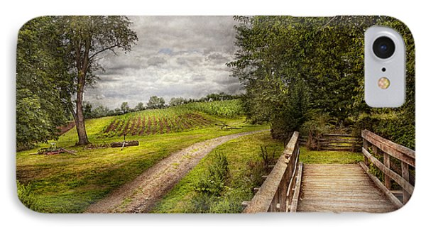 Farm - Landscape - Jersey Crops Phone Case by Mike Savad
