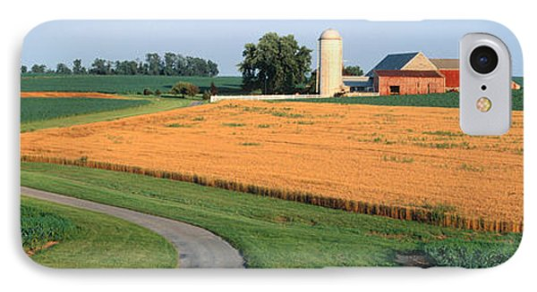 Farm Nr Mountville Lancaster Co Pa Usa IPhone Case by Panoramic Images