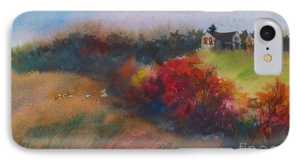 Farm On The Hill At Sunset Phone Case by Joy Nichols