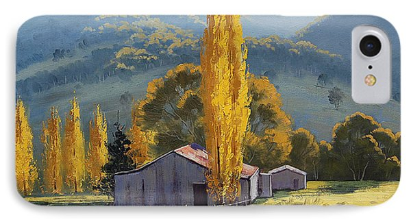 Farm Sheds Painting IPhone Case by Graham Gercken