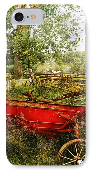 Farm - Tool - A Rusty Old Wagon Phone Case by Mike Savad