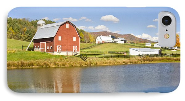 IPhone Case featuring the photograph Farm With Red Barn by Robert Camp
