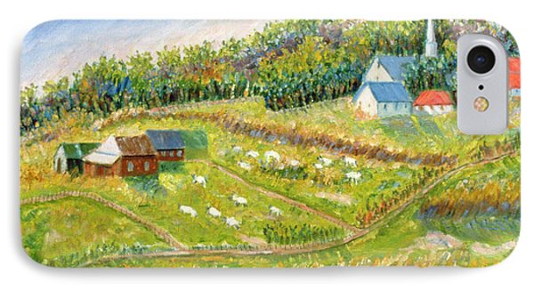 Farm With Sheep Phone Case by Patricia Eyre