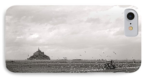 Farm Work At Mont Saint Michel IPhone Case by Olivier Le Queinec