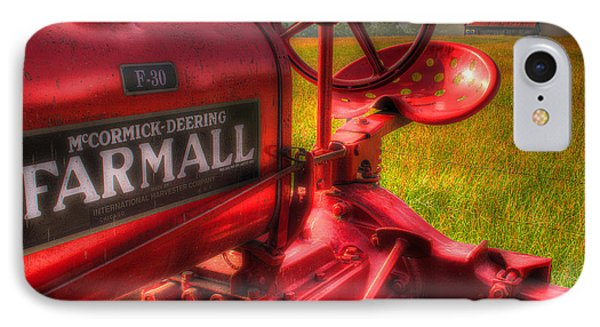 Farmall Morning IPhone Case by Michael Eingle