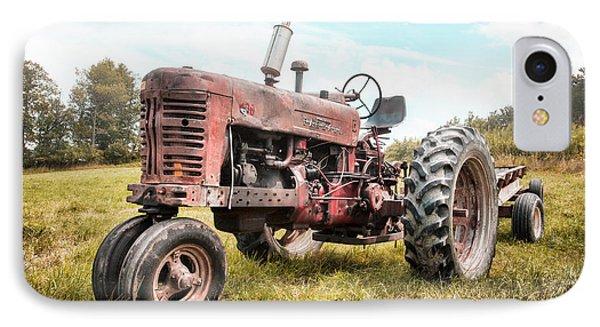Farmall Tractor Dream - Farm Machinary - Industrial Decor IPhone Case by Gary Heller