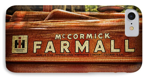 Farmall Tractor IPhone Case by Kenny Francis