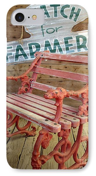 IPhone Case featuring the photograph Farmer Bench by Kerri Mortenson