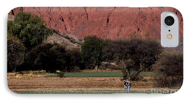 Farmer In Field In Northern Argentina Phone Case by James Brunker