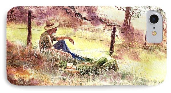 Farmers And Hunters Heaven IPhone Case by Irina Sztukowski