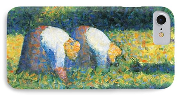 Farmers At Work Phone Case by Georges Seurat