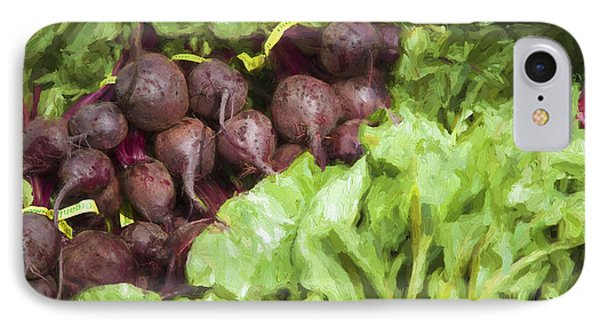 Farmers Market Beets And Greens IPhone Case by Carol Leigh