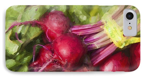 Farmers Market Beets Square Format IPhone Case by Carol Leigh