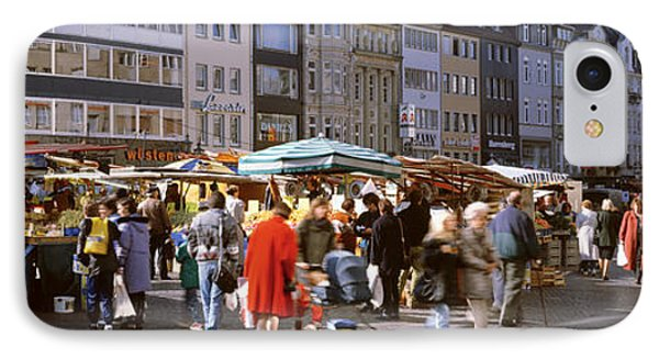 Farmers Market, Bonn, Germany IPhone Case by Panoramic Images