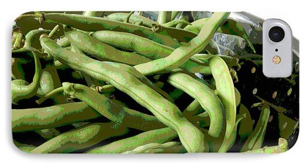 Farmers Market Green Beans Phone Case by Ann Powell