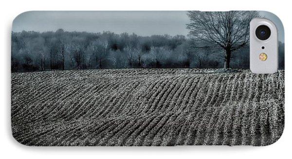 Farmfield Furrows IPhone Case by Henry Kowalski