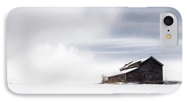 Farmhouse - A Snowy Winter Landscape IPhone Case by Gary Heller