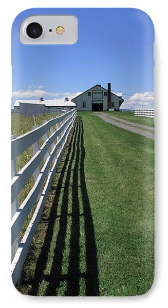 Farmhouse And Fence Phone Case by Frank Romeo