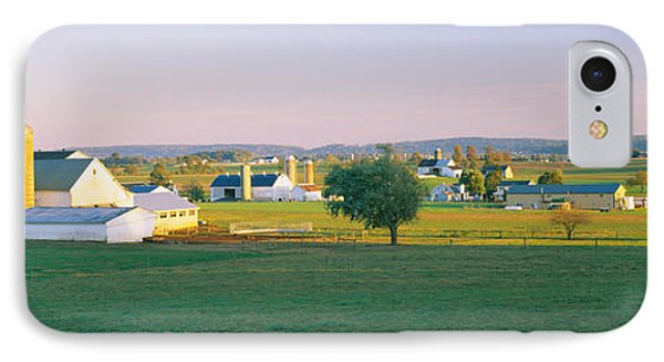 Farmhouse In A Field, Amish Farms IPhone Case by Panoramic Images
