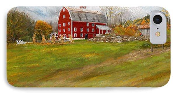 Red Barn Art- Farmhouse Inn At Robinson Farm IPhone Case by Lourry Legarde