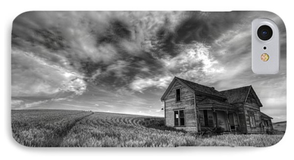 Farmhouse B And W IPhone Case by Latah Trail Foundation