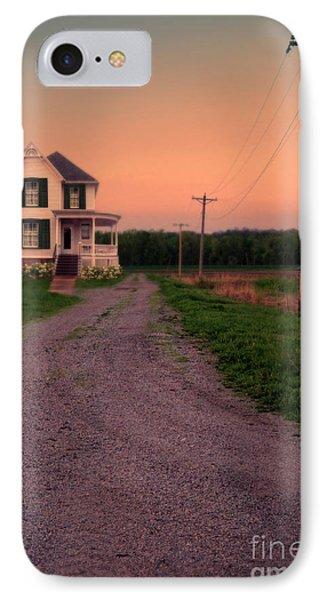 Farmhouse On Gravel Road Phone Case by Jill Battaglia