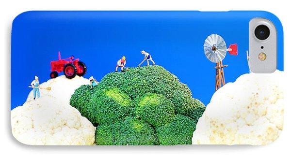 Farming On Broccoli And Cauliflower Phone Case by Paul Ge