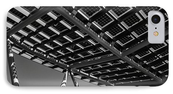 IPhone Case featuring the photograph Farming The Sun - Architectural Abstract by Steven Milner