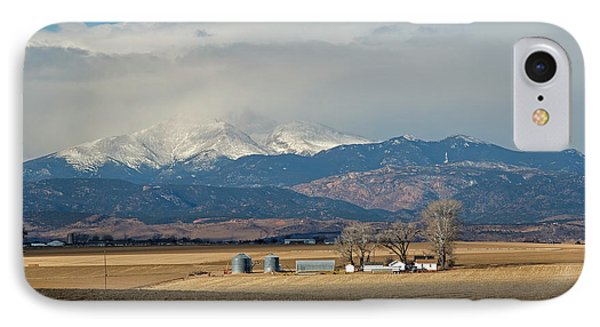 Farmland Below The Rocky Mountains IPhone Case by Jim West
