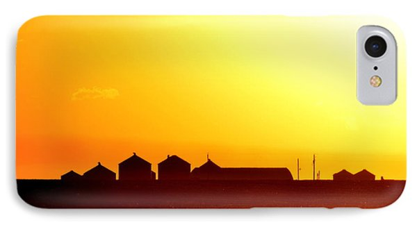Farmstead At Sundown IPhone Case by Clarice  Lakota
