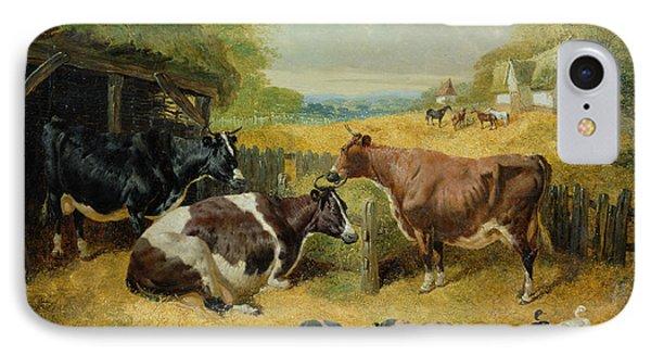 Farmyard Scene IPhone Case by John Frederick Herring Snr